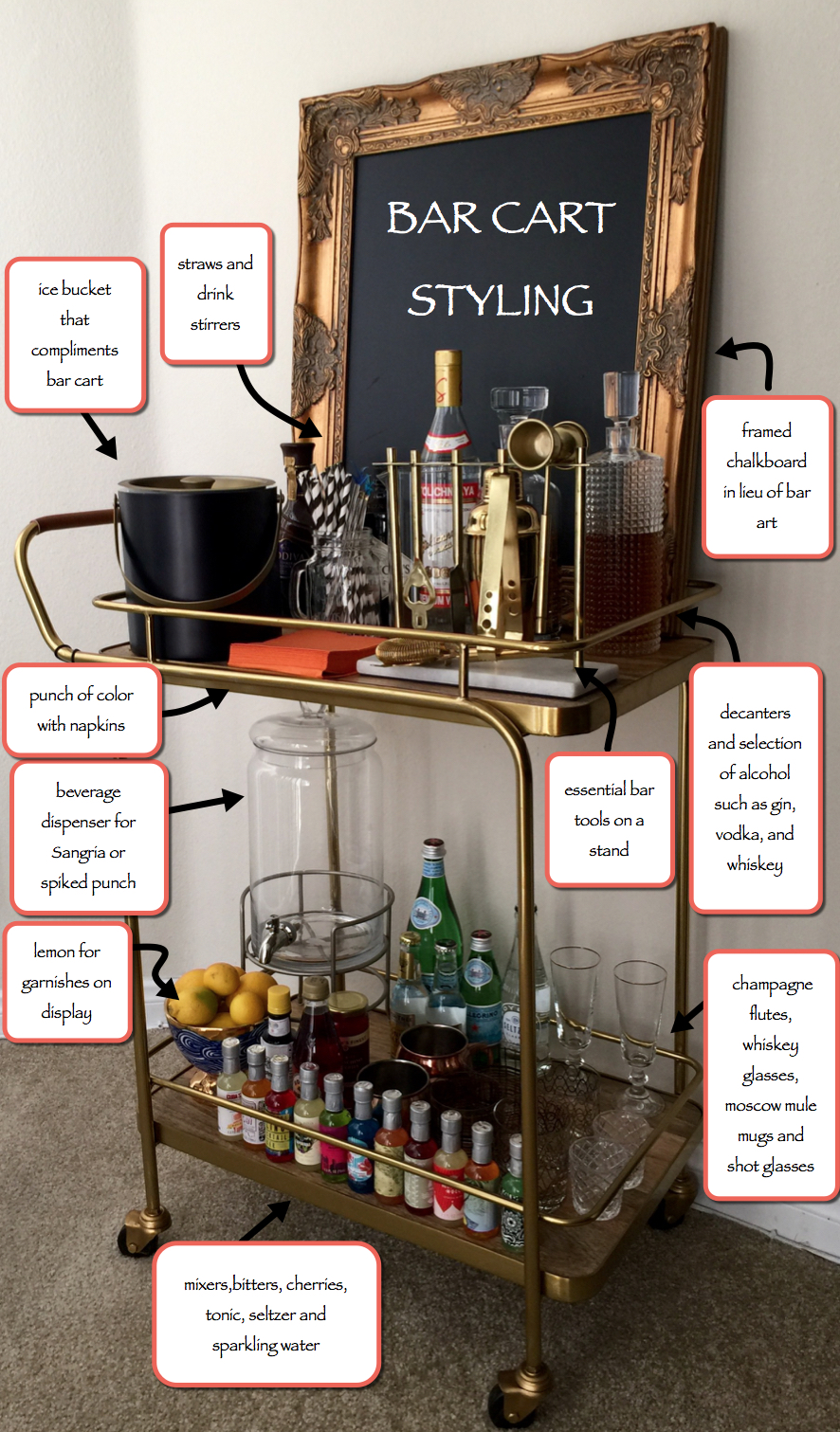 barcart - How To Style A Bar Cart